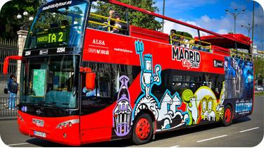 Buses turísticos Madrid
